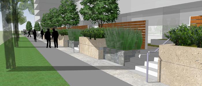 Bathurst beverley glen condos urban planning vaughan for Courtyard designs bathurst