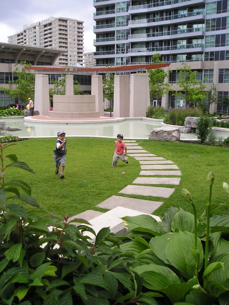 The gardens are child's play  The green oasis lies adjacent to the formal playground and extends the children's enjoyment for hours.