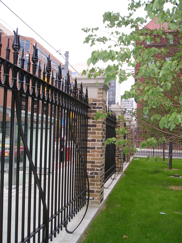 The local history and character of the area was preserved through the restoration and reinstallation of the historic fence.