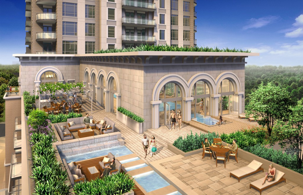 The Rooftop water features  An indoor / outdoor hot tub and waterwall poolside lounges tranquil settings.  A trellis over the dining areas provides an alternative to the sunning lounges.