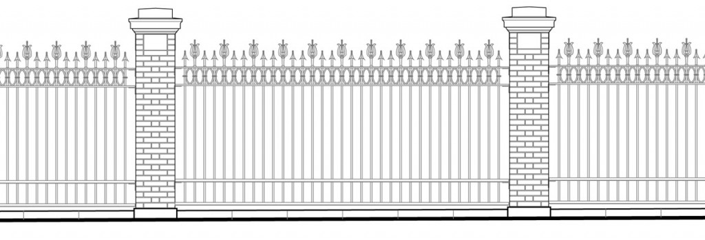 Construction drawings for restored heritage fence