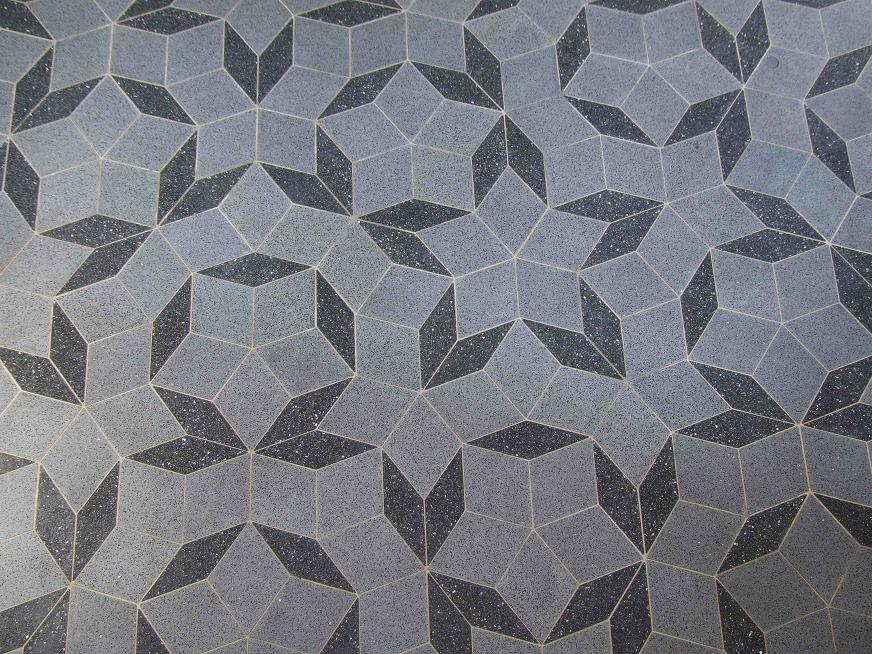 Penrose tiling designed circa 1970. Source: Gravity discovery center