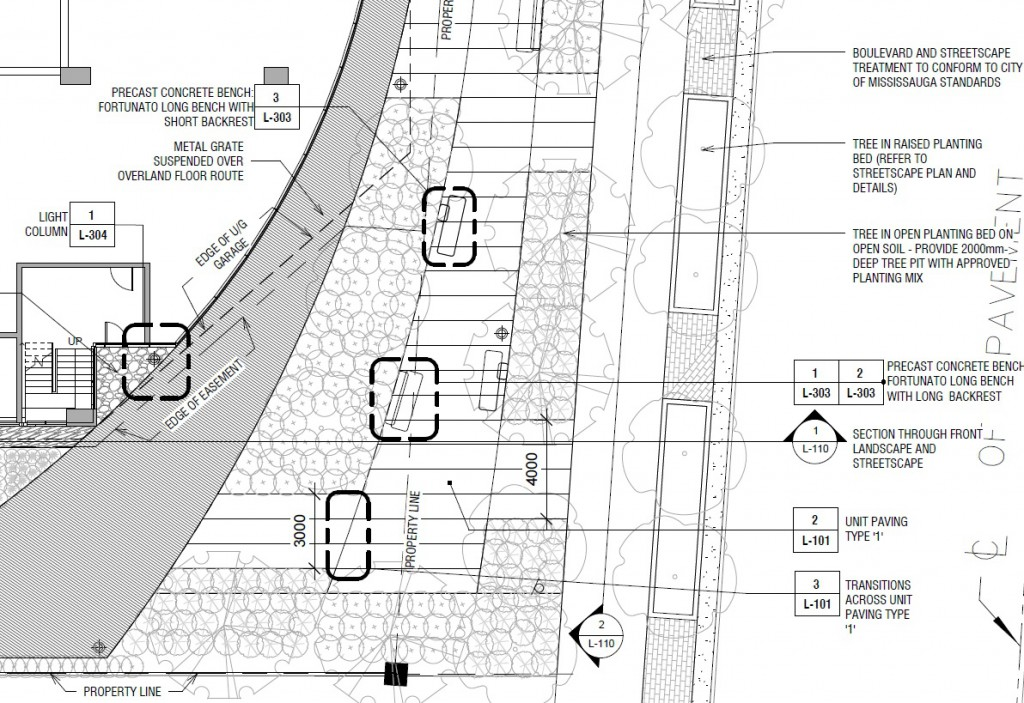 Ground Floor streetscape plan and labels from Revit Package
