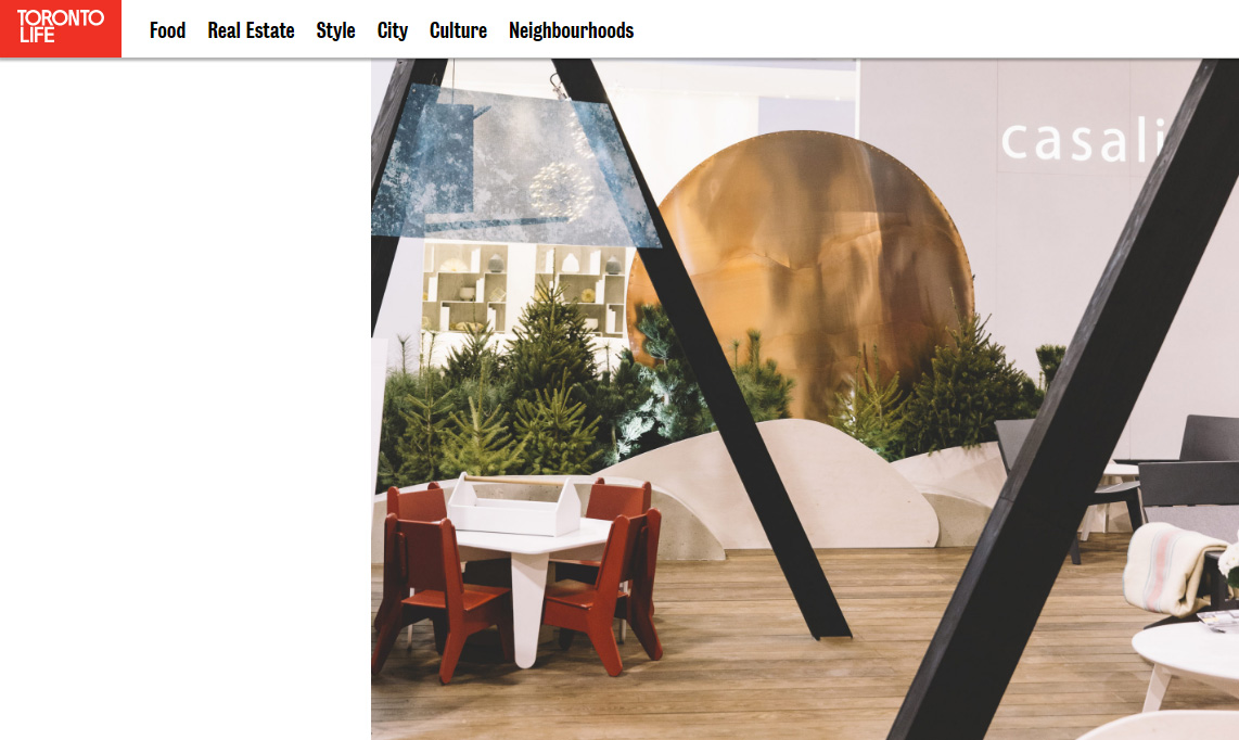 """Toronto Life includes our Open Air Exhibit in """"The coolest stuff on display at the 2017 Interior Design Show"""""""